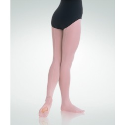 Body Wrappers TotalSTRETCH Girls Mesh Back Seam Convertable Tights