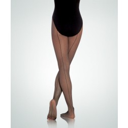 Body Wrappers TotalSTRETCH Seamed Fishnet Tights