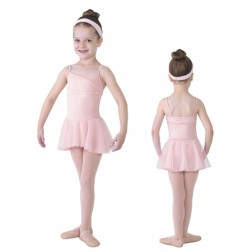 Mirella Girl's Skirted Leotard with Diamante Detail